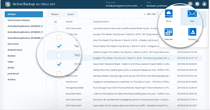 Synology Active Backup für Office 365